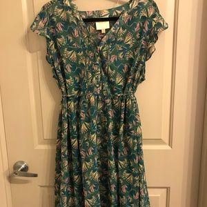 ModCloth Butterfly Pattern 1X Flowy Dress